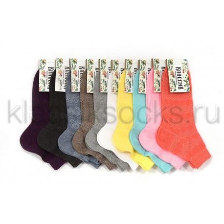 """Женские носки """"Классик"""" 7-10 расцветок, КС -133"""