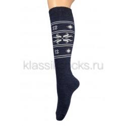 Зимние женские шерстяные носки с высоким паголенком ГК-14С