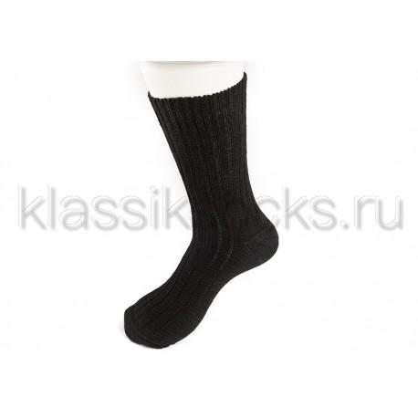 """Зимние шерстяные мужские носки """"Классик"""" крупная вязка З-89"""