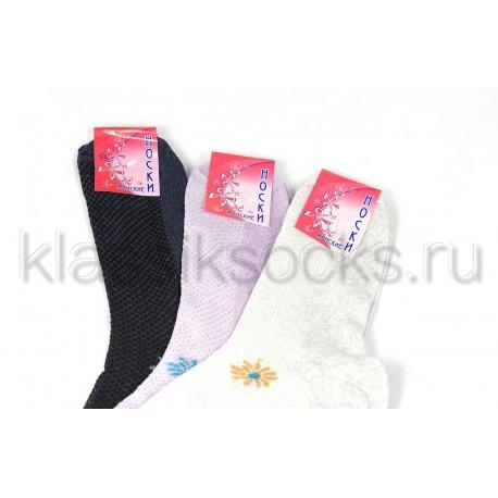 Женские носки Ж-1 сетка 7-10 цветов