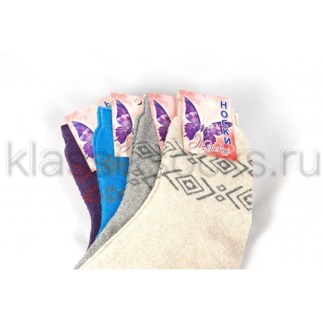 Зимние женские носки с махрой 7-10 цветов КМ-212