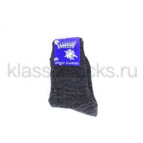 Зимние женские шерстяные носки крупной вязки КМ-115